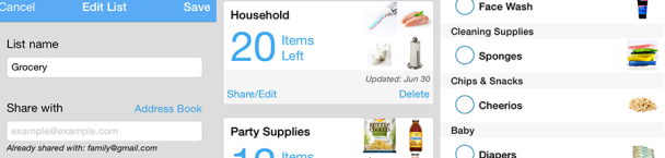 app for shopping lists